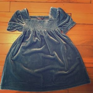 Girls Baby Gap Velvet Shirred Dress Size 18-24 M